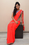 tejaswini sizzling photos in saree-thumbnail-9