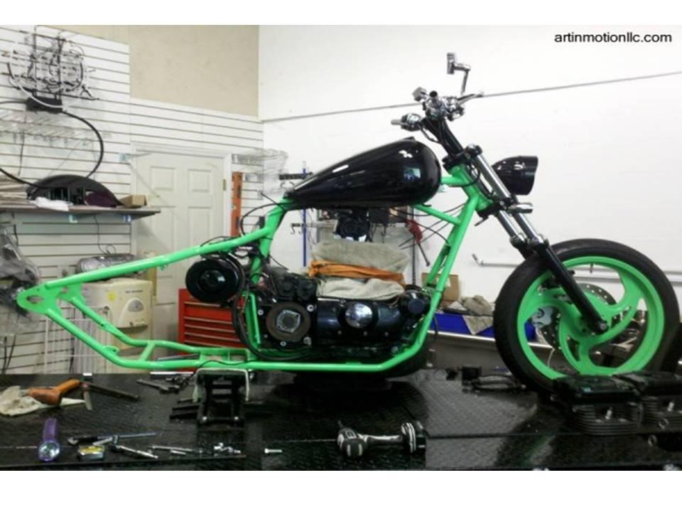 como armar tu propia moto chopper