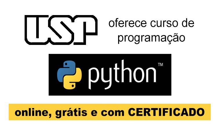 USP oferece curso de programação Python - online, grátis e com certificado