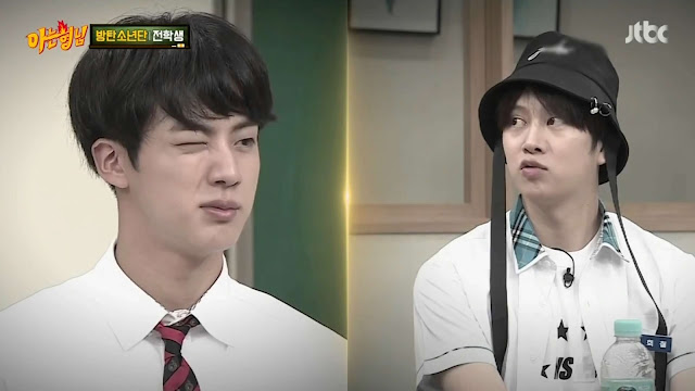 BTS Jin kim hee chul Knowing Bros