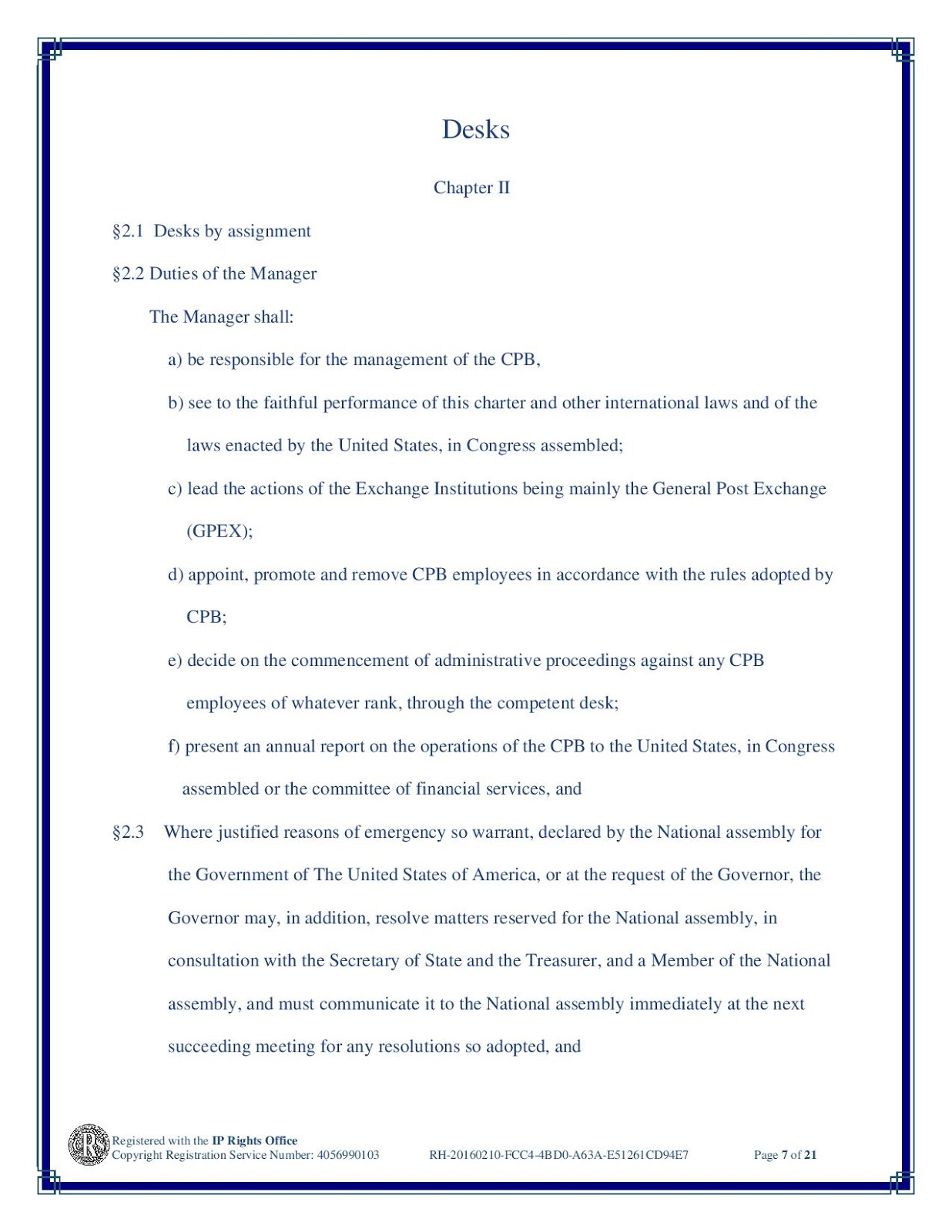 The United States, In Congress Assembled: PROCLAMATION OF DISSOLUTION OF THE BANK OF NORTH AMERICA. 20160210-GPOD3-CPB_CHARTER-page-007