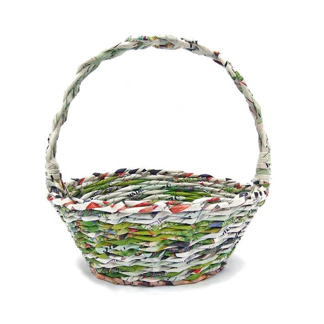 zielony koszyk wielkanocny
