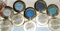 MILANI bella eyeshadow swatches silver grey sky blue cobalt navy teal haul