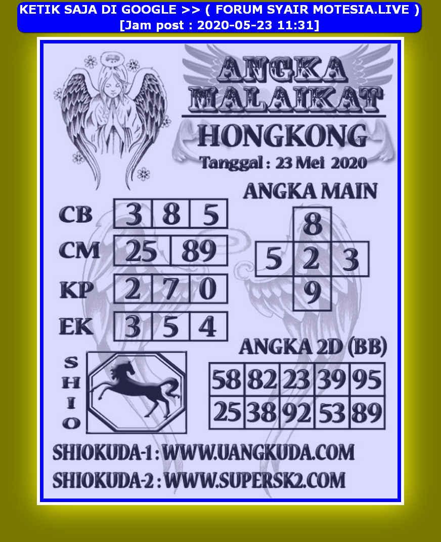 Kode syair Hongkong Sabtu 23 Mei 2020 198