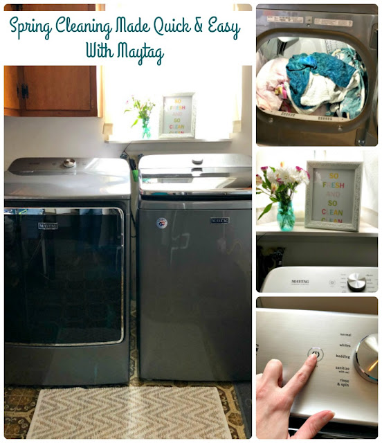 Spring cleaning was quick & easy for once – thanks to my new washer & dryer from @Maytag! They're offering some powerful deals from May 3 – June 6 that you should definitely check out. See how they look & learn more on the blog! #sponsored #Maytag