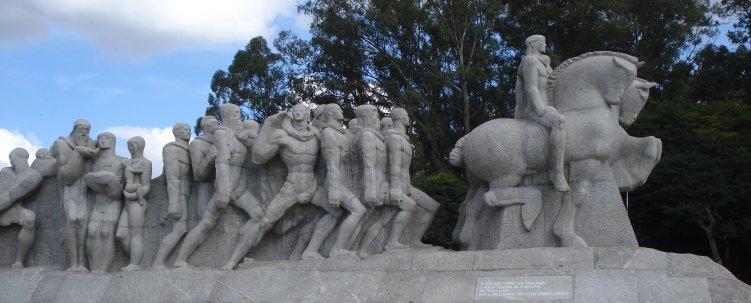 Bandeirantes monument in Sao Paulo Brazil