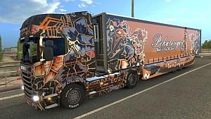 Scania R Batik skin + trailer