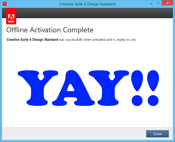 Chriscientfic: Adobe CS6 Registration for Offline Activation and You