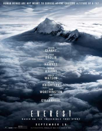 Poster Of Everest 2015 Dual Audio 400MB BRRip 720p ESubs HEVC Free Download Watch Online Worldfree4u