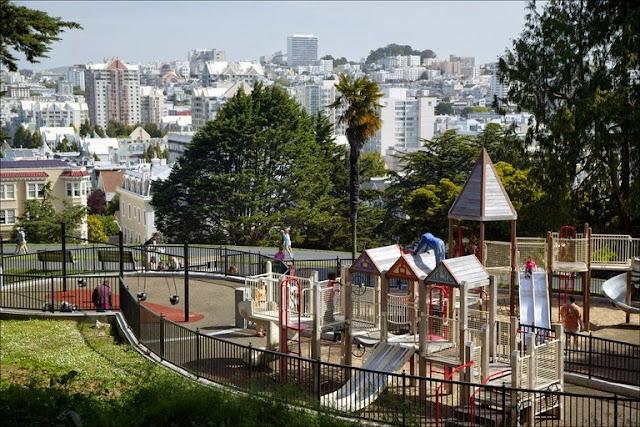 Parque Alamo Square Park em San Francisco