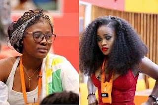 BBNaija former Double Wahala housemates, Alex and Cee-C have reconciled.  In an Instagram Live video feed, the two former housemates can be seen laughing in their changing room.