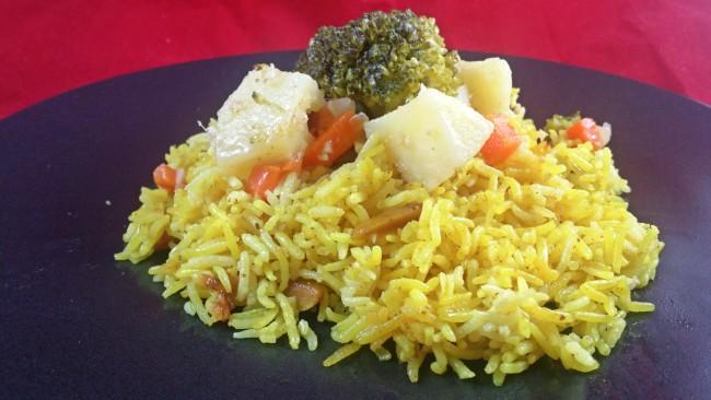 arroz indio con verduras
