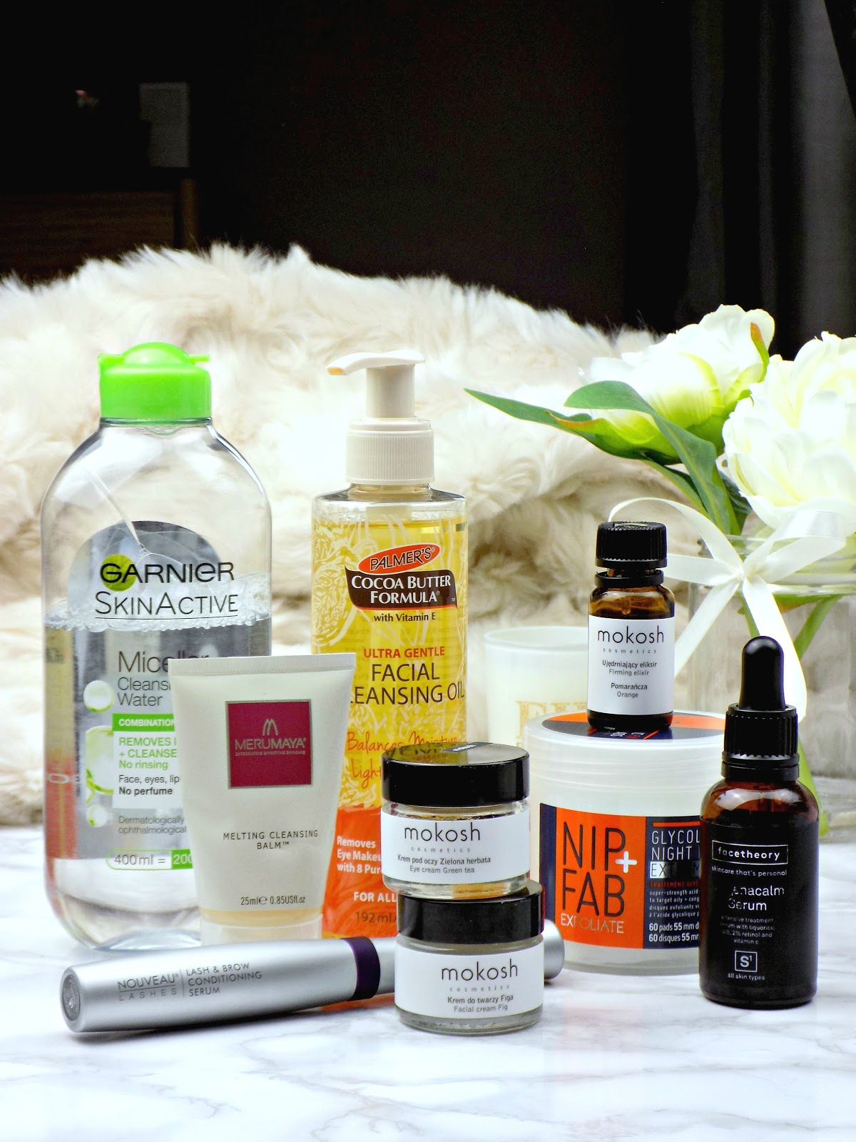 Night time skincare routine fo rmature skin