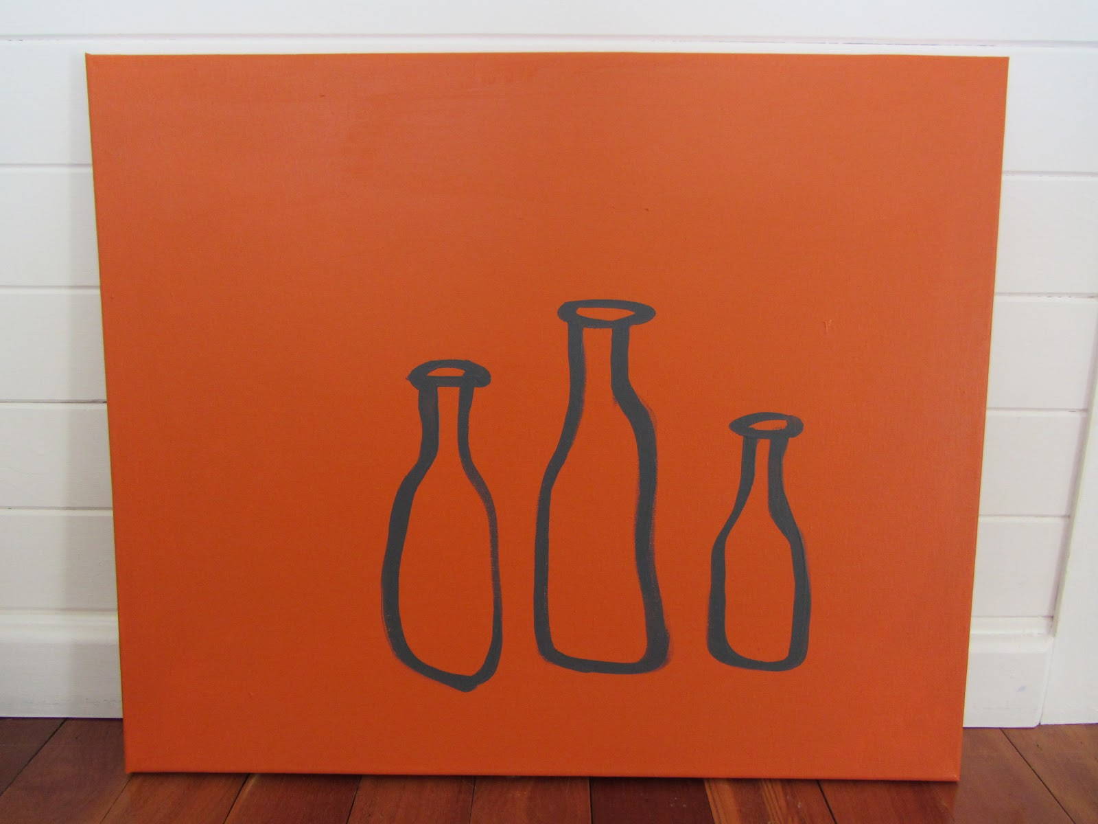 This Painting On Canvas Project Is Really Very Easy And It Looks So Nice Modern Last Year I Did A Couple Of Other Paintings In Similar Simple Style