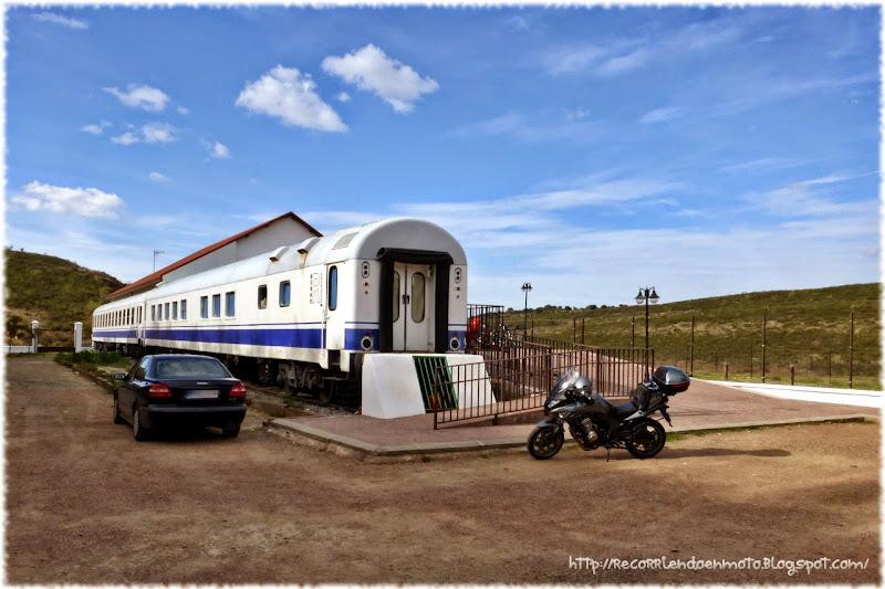 Vagón cafetería Vía Verde de La Jara