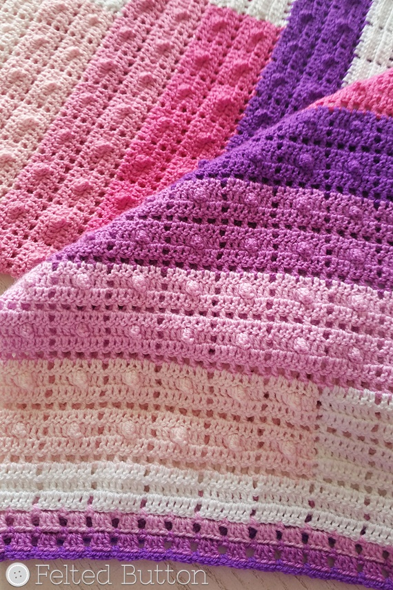Teetering Tower Blanket Crochet Pattern by Susan Carlson of Felted Button