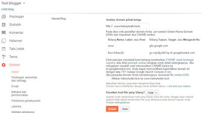 error bx saat menyimpan domain blogger