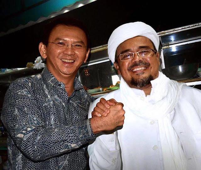 foto hoax Habib Rizieq jabat tangan Ahok