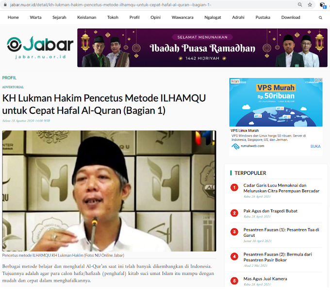 Kang Lukman dan Metode Mengahafal Quran Ilhamqu dalam Jabar NU Online