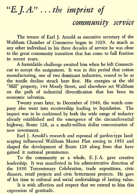 community service of Earl J. Arnold