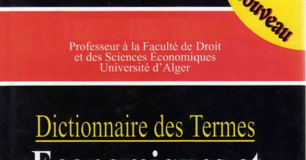 lexiques des termes economiques pdf