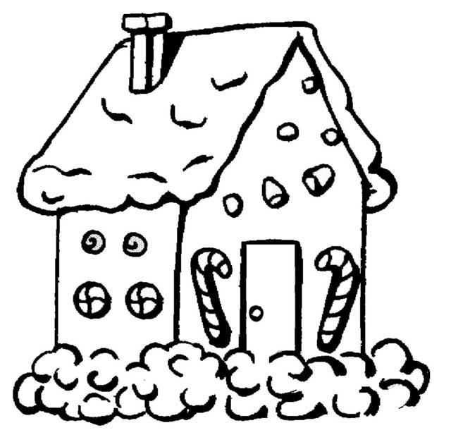 maison de noel a colorier