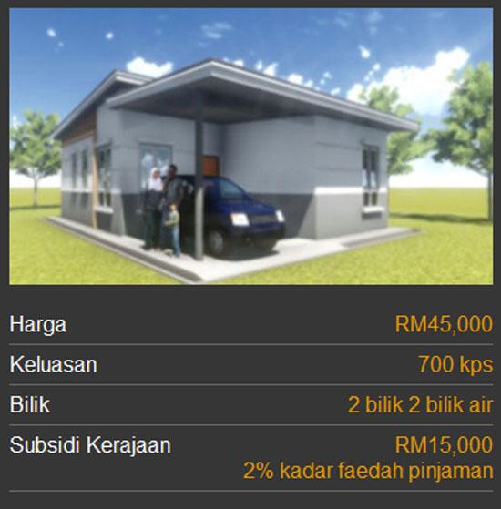 Kategori Rumah Mesra Rakyat 1Malaysia SPNB - Jenis 3