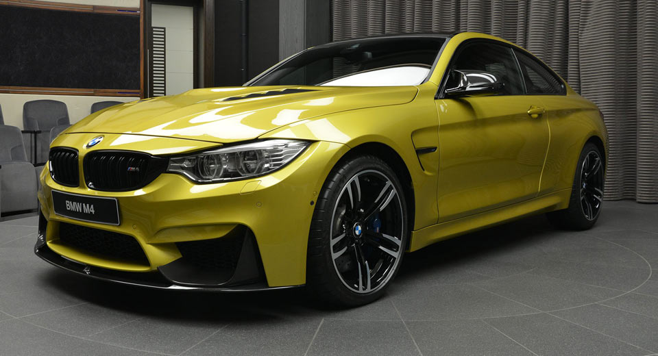 Austin Yellow Bmw M4 Laden With M Performance Parts Is