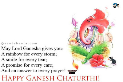 Happy Ganesh Chaturthi SMS, Wishes & Greetings, Messages