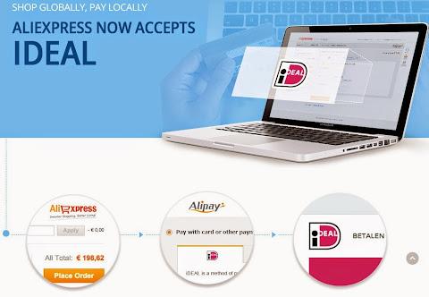 圖說: AliExpress 可以接受荷蘭消費者使用 iDeal 透過銀行現金卡進行支付,圖片來源: AliExpress 網站