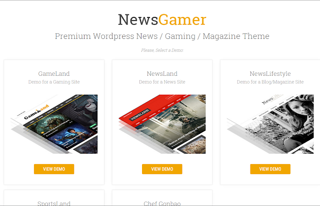 News Gamer Wordpress Theme Free Download