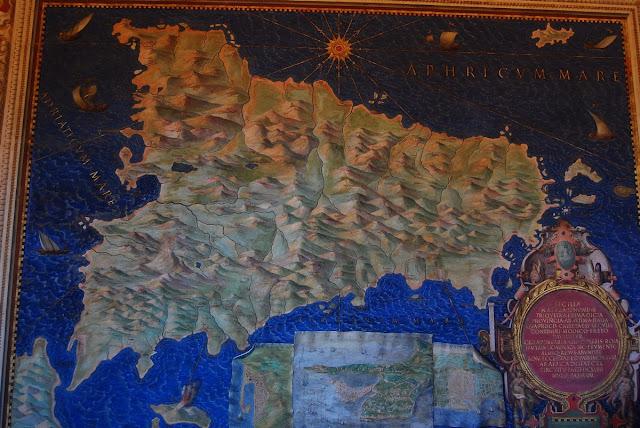 Carte de la Sicile galerie Vatican