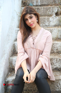 Telugu Actress Aditi Singh Stills in Leather Pants at Nenu Kidnap Iyanu Movie Press Meet  0131.JPG