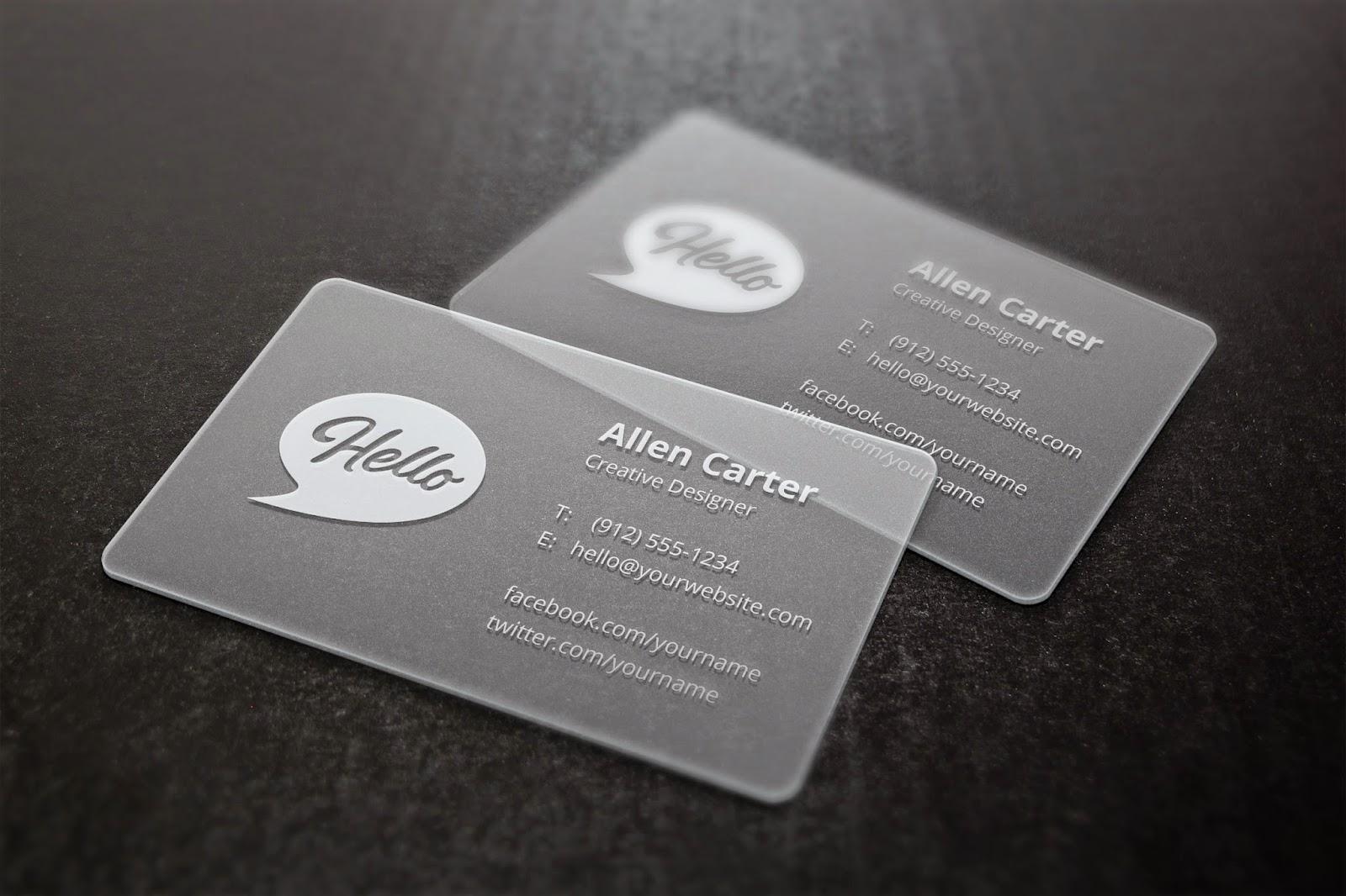 Plastic Business Card Mockup Template