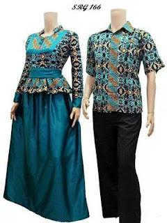 baju batik sarimbit warna biru