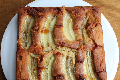 Buttermilk Cake with Banana аnd Salted Caramels