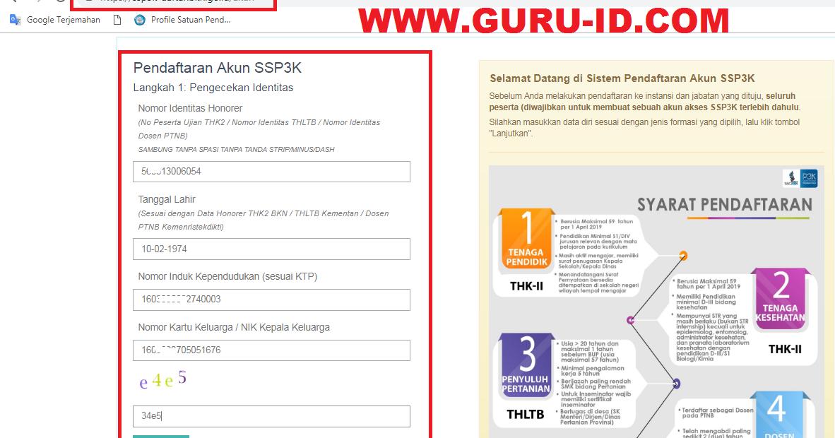 Cara Daftar p3k guru honorer k2 di Ssp3k.bkn.go.id - Info ...