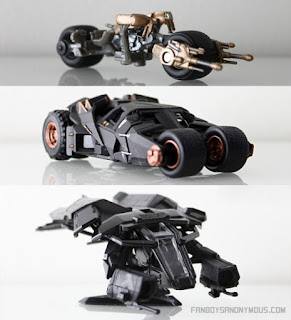 Dark Knight Trilogy Collector's Edition Vehicle Models Batpod Tumbler Bat