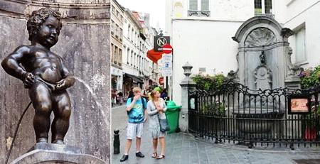 tempat wisata terkenal di Brussels Belgia Manneken Pis