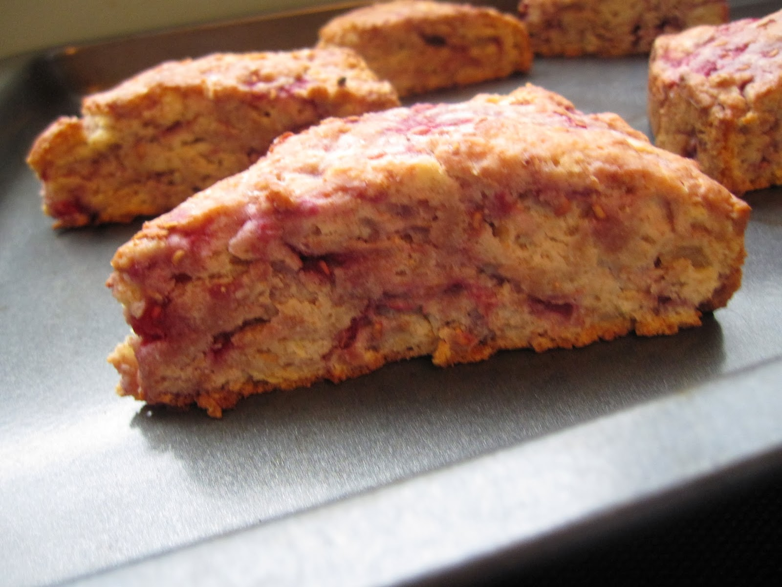 Whole Wheat Raspberry Ricotta Scones | A Taste of Madness