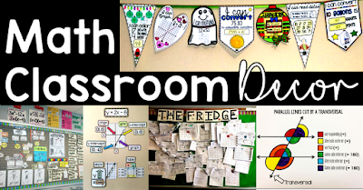 Math classroom decoration ideas