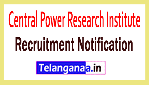 CPRI Central Power Research Institute Recruitment Notification