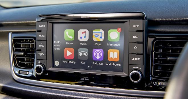 Kia Rio touchscreen