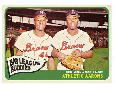 1965 Topps Combo Card: Athletic Aarons