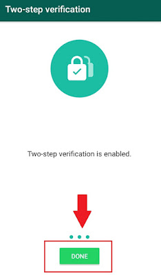 Enable Two-Step Verification Whatsapp
