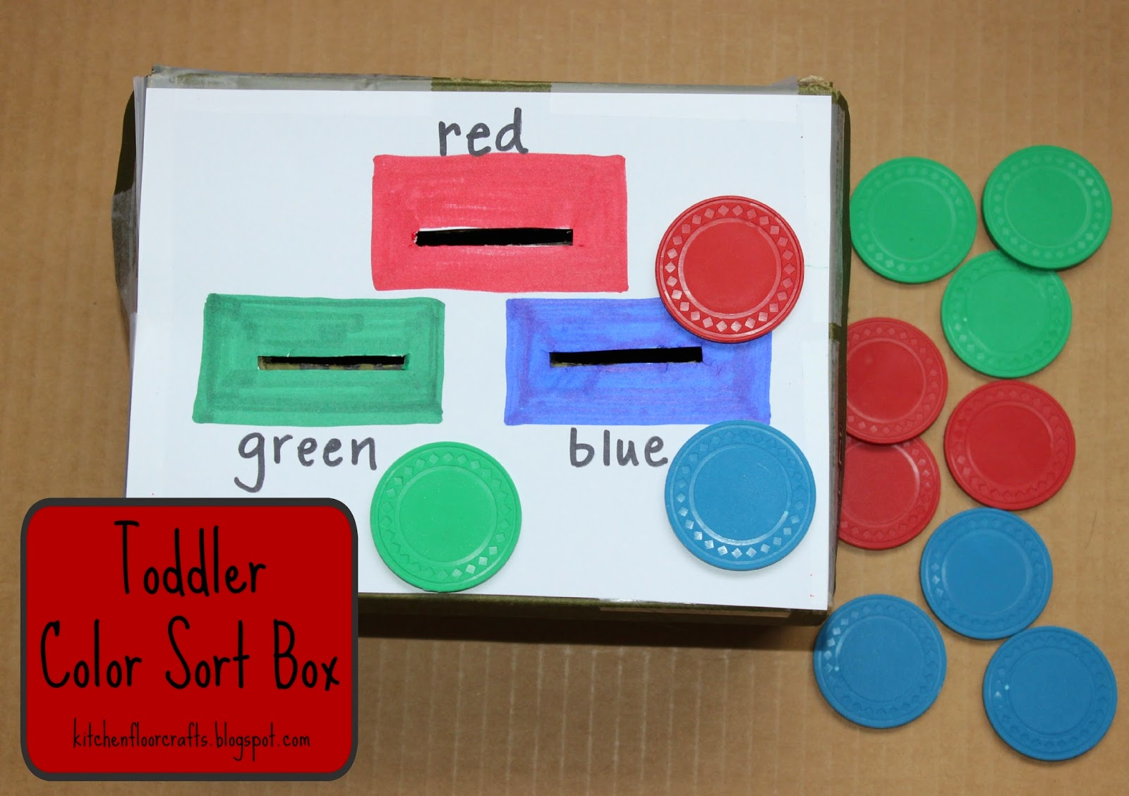 Kitchen Floor Crafts Toddler Color Sort Box