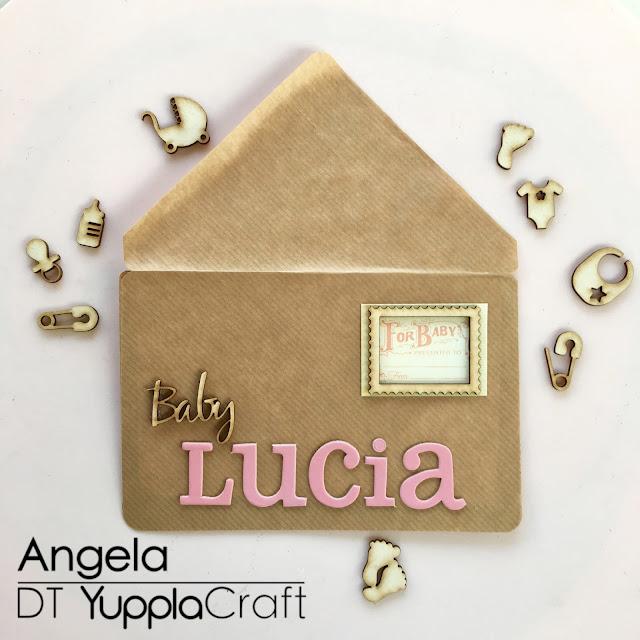 Card Battesimo by Angela Tombari per Yuppla Craft DT