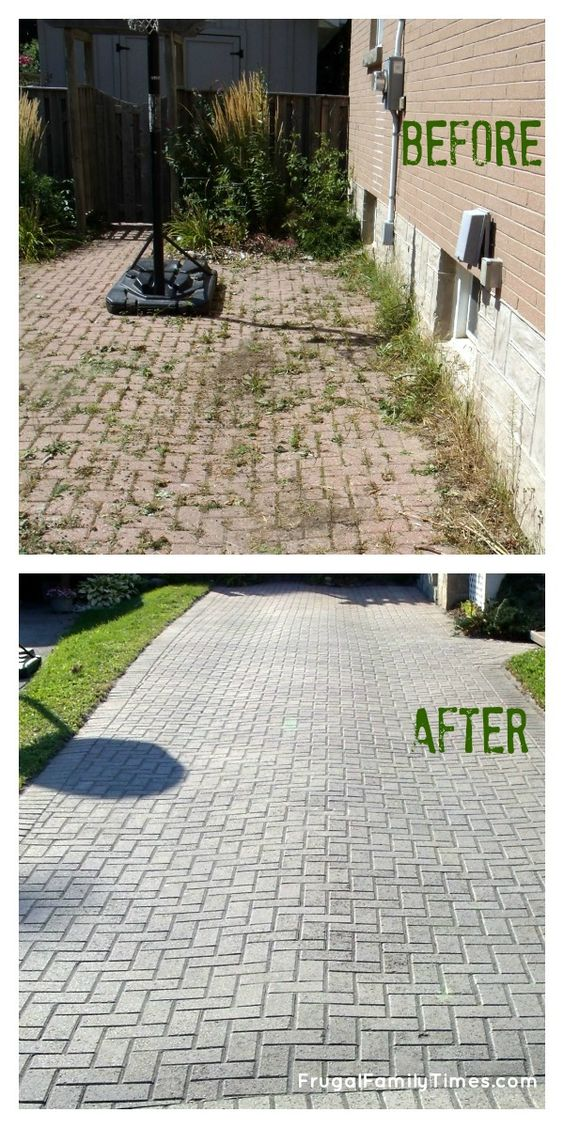 How to make a weed free brick driveway that stays that way do you have an interlocking paver driveway then you understand my frustration do you have a brick patio then you can feel my pain weeds solutioingenieria Image collections