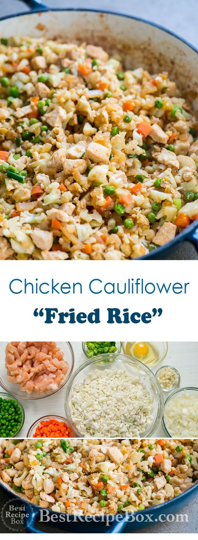 Cauliflower (Fried Rice) with Chicken