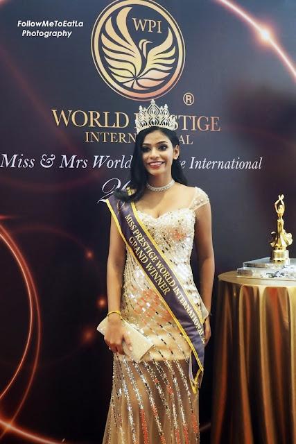 Miss World Prestige International 2016 Grand Champion winner, Ms Harcana Liljay